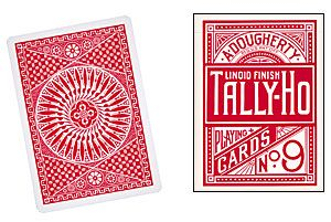 Cheek to Cheek Triumph Deck - Tally Ho Red Fan Back