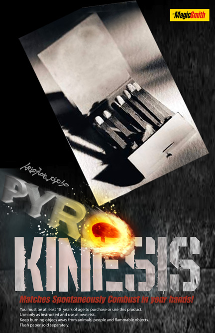 Pyro Kinesis 2.0  Gimmicks by Magic Smith