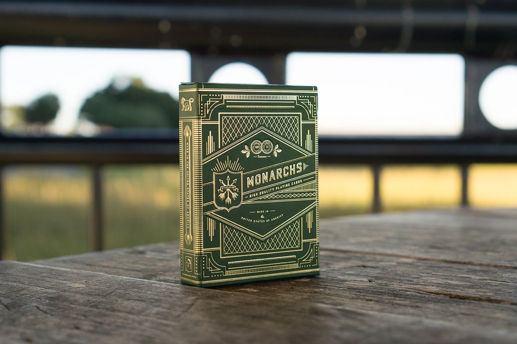 MONARCH PLAYING CARDS GREEN EDITION