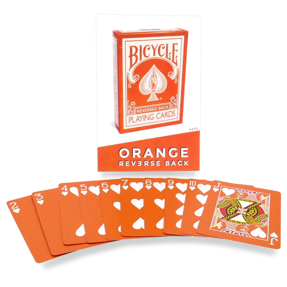 Orange Reverse Bicycle Deck USPCC