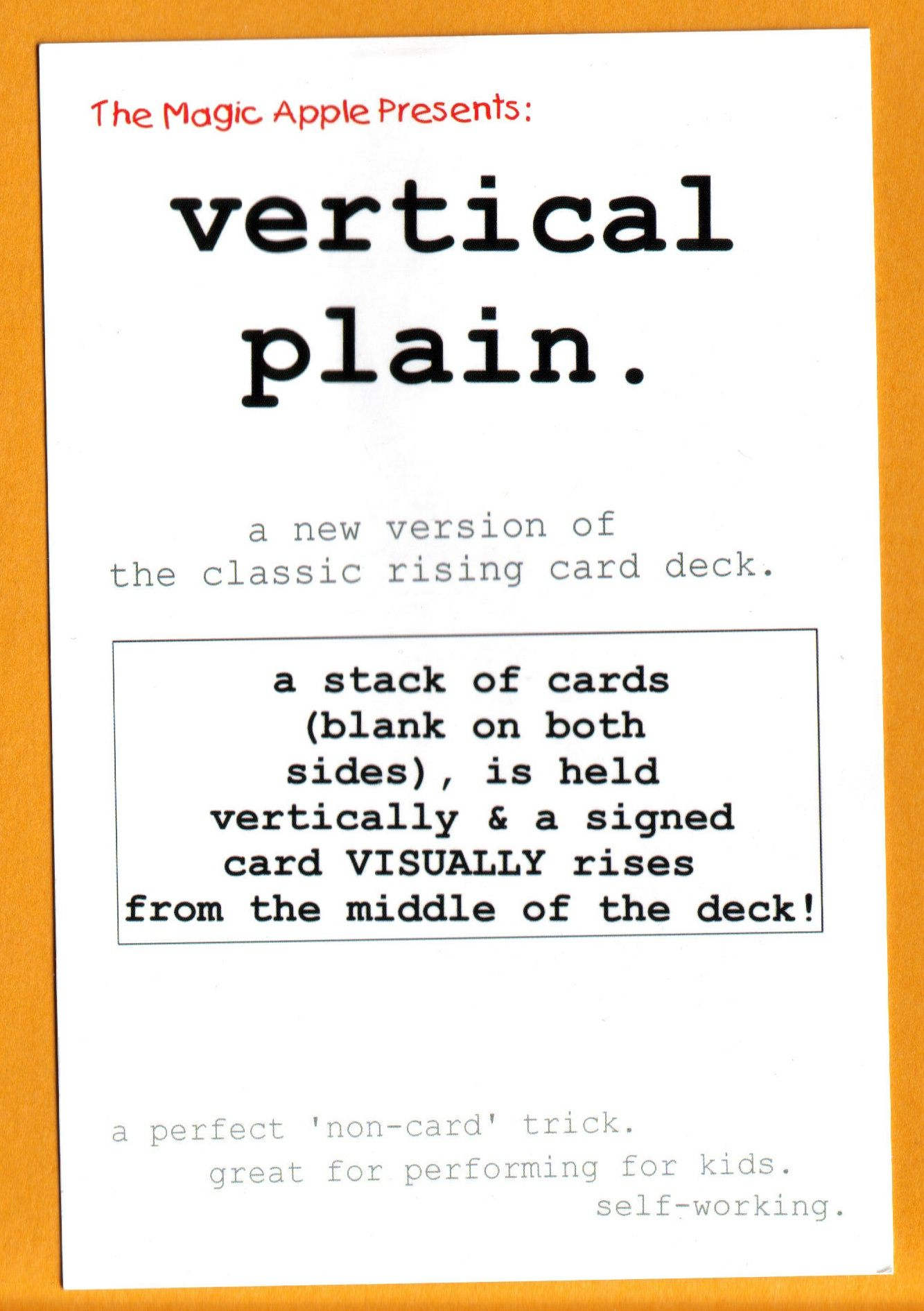 Vertical Plain by The Magic Apple