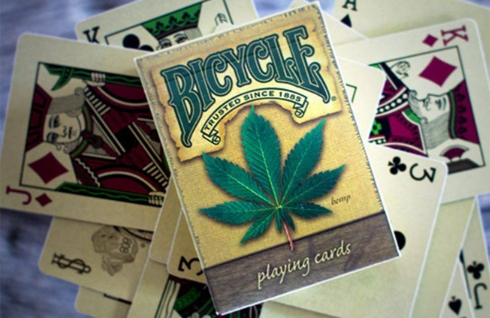 Bicycle Hemp Deck USPCC Weed