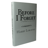Before I Forget Book by Harry Lorayne