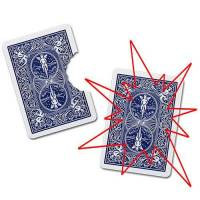 Bite Out Card Bicycle with Deck