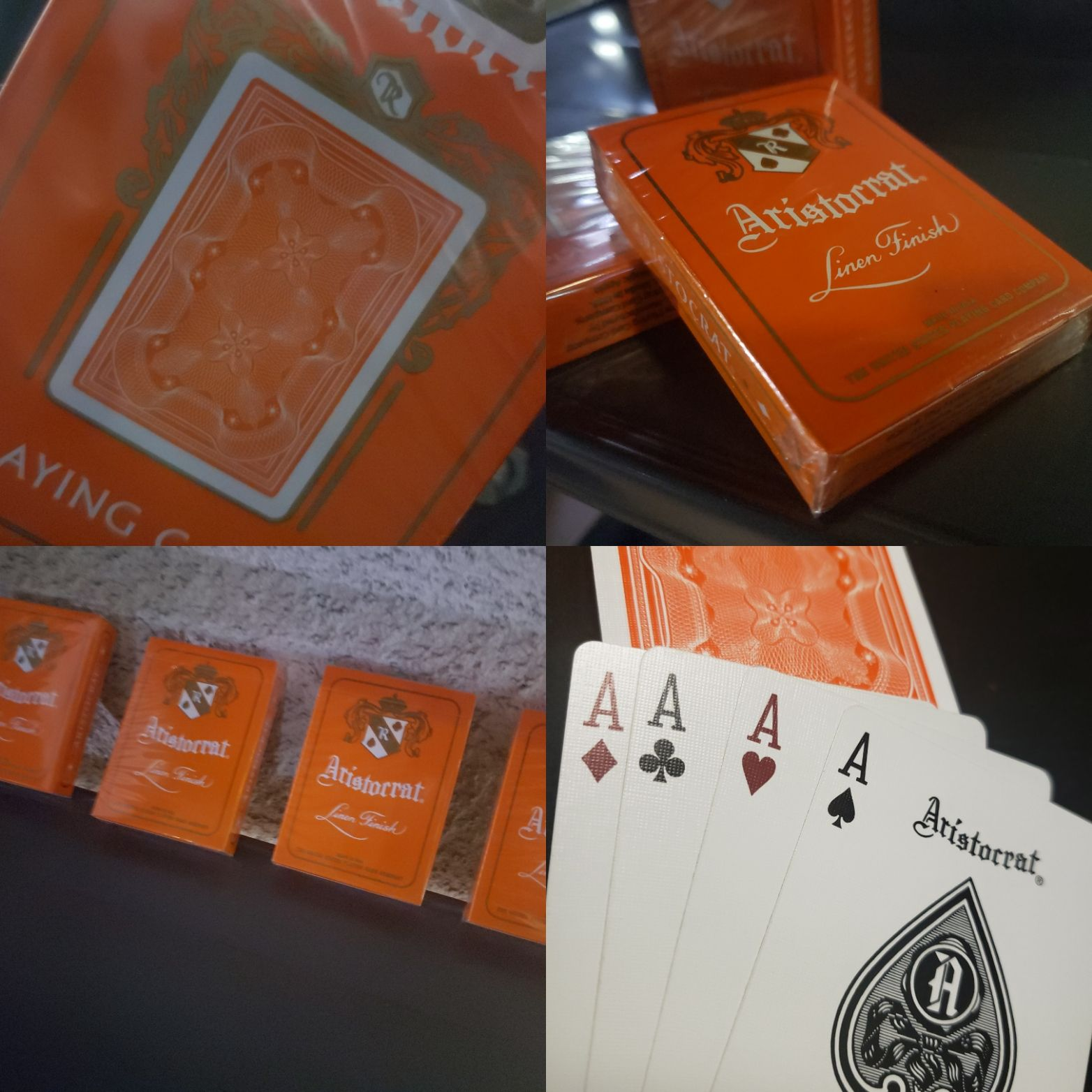 Orange Aristocrats Playing Cards by USPCC & The Magic Apple